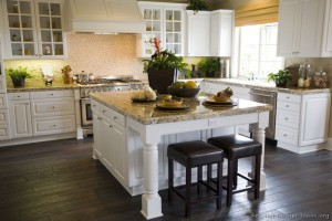 White Cabinets Traditional